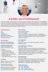 CV ontwerp Karin