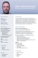 CV ontwerp Ron